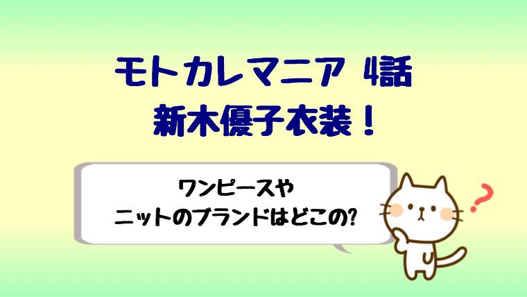 モトカレ マニア 新 木 優子 衣装
